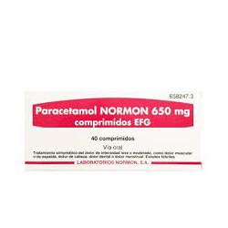 PARACETAMOL NORMON 650 mg COMPRIMIDOS EFG