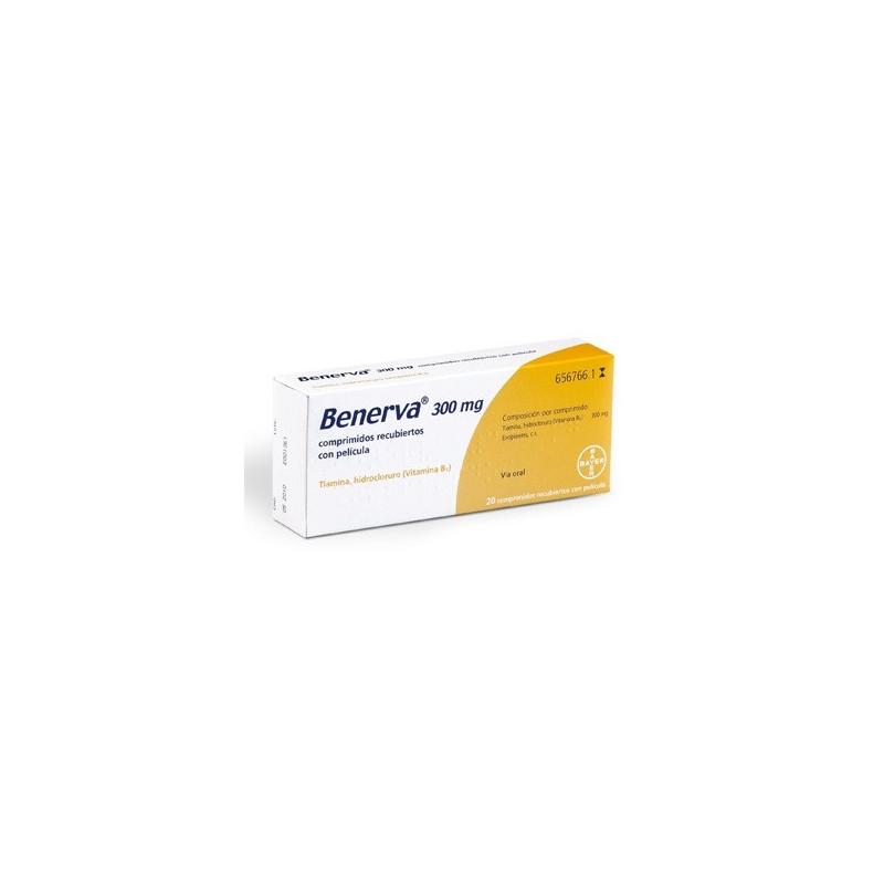 BENERVA 300 mg COMPRIMIDOS RECUBIERTOS CON PELICULA