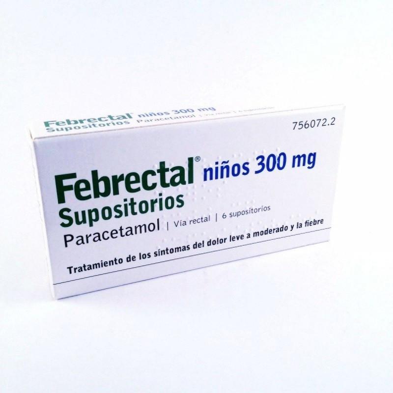 FEBRECTAL NIÑOS 300 mg SUPOSITORIOS
