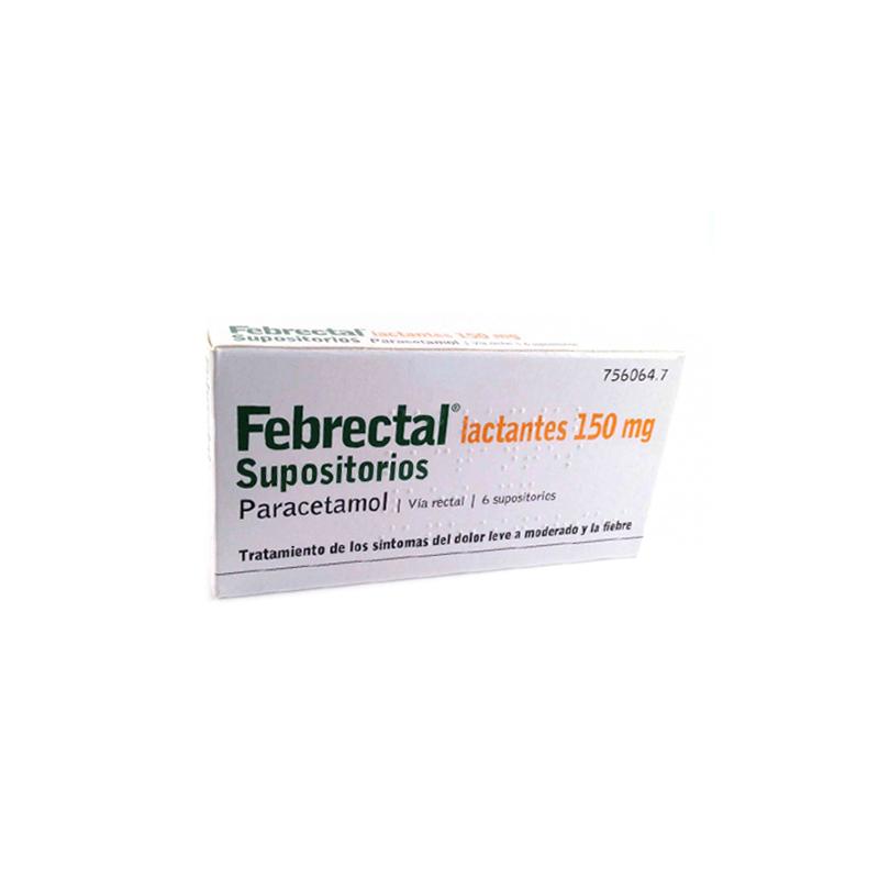 FEBRECTAL LACTANTES 150 mg SUPOSITORIOS