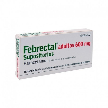 FEBRECTAL ADULTOS 600 mg SUPOSITORIOS