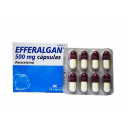 EFFERALGAN 500 mg CAPSULAS