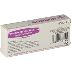 PARACETAMOL NORMON 500 mg COMPRIMIDOS EFG