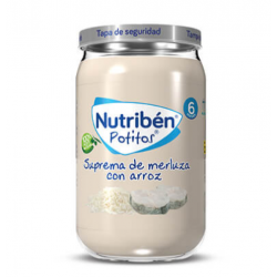 NUTRIBEN POTITO SUPREMA DE MERLUZA CON ARROZ 235G