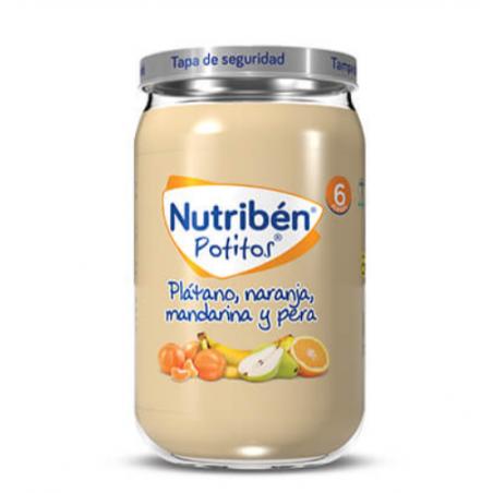 NUTRIBEN PLATANO NARANJA MANDARINA Y PERA 235G