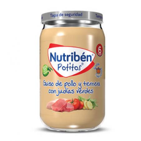 NUTRIBEN POTITO GUISO DE POLLO CON TERNERA Y JUDÍAS VERDES 235G