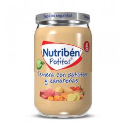 NUTRIBEN POTITOS TERNERA CON PATATAS Y ZANAHORIAS 235G
