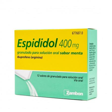 ESPIDIDOL 400 mg 12 SOBRES GRANULADO PARA SOLUCION ORAL SABOR MENTA