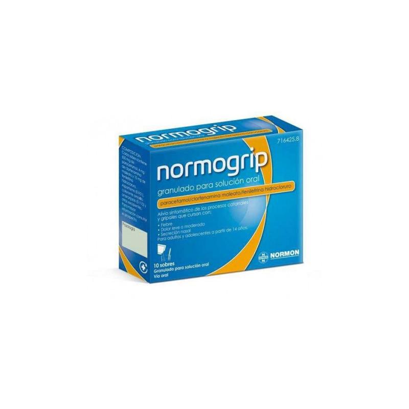 NORMOGRIP ANTIGRIPAL 10 SOBRES GRANULADO SOLUCION ORAL