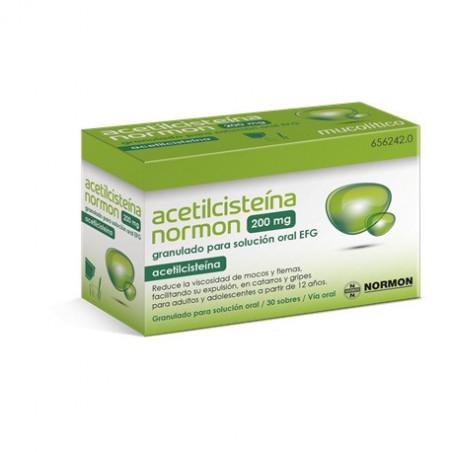 ACETILCISTEINA NORMON 200 MG 30 SOBRES GRANULADO PARA SOLUCION ORAL