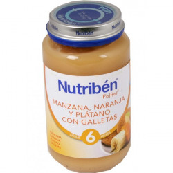 NUTRIBEN JUNIOR MANZANA NARANJA PLATANO Y GALLETA JUNIOR 200 G