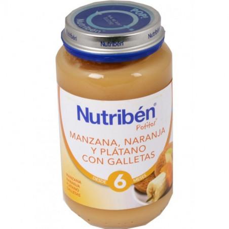 NUTRIBEN JUNIOR MANZANA NARANJA PLATANO Y GALLETA JUNIOR 200 G