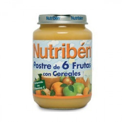NUTRIBEN JUNIOR POSTRE 6 FRUTAS CON CEREALES JUNIOR 200 G