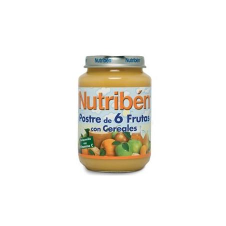 NUTRIBEN JUNIOR POSTRE 6 FRUTAS CON CEREALES JUNIOR 200 G