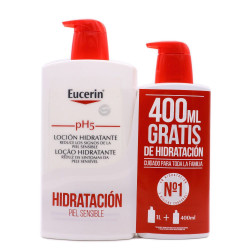 EUCERIN GEL DE BAÑO PIEL SENSIBLE PH5 1 L + 400ML GRATIS