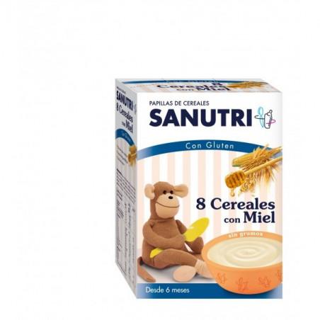 SANUTRI PAPILLA 8 CEREALES CON MIEL  600 G