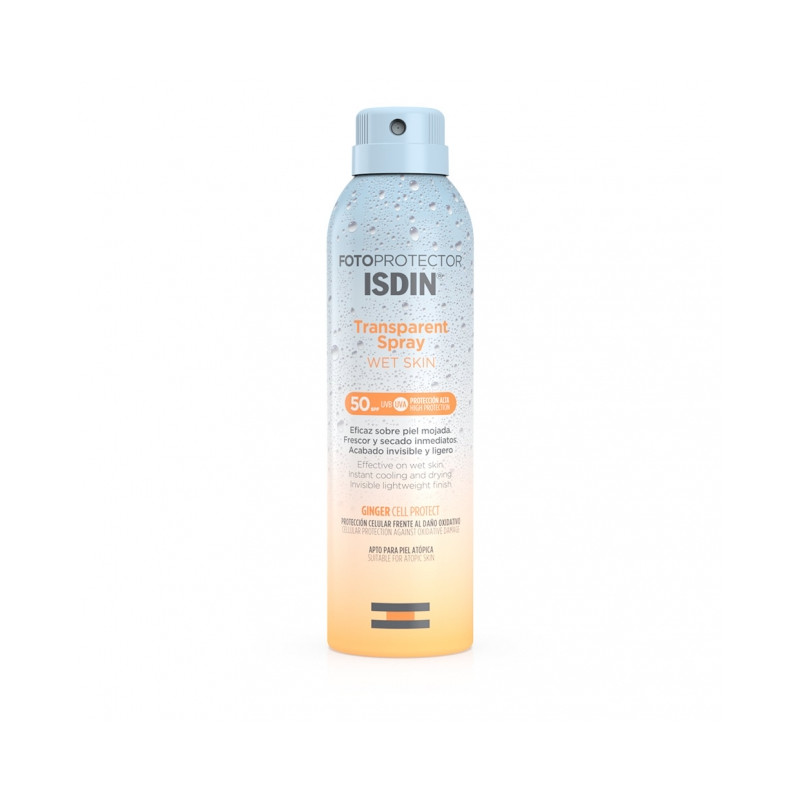 ISDIN FOTOPROTECTOR TRANSPARENT SRAY WET SKIN SPF 50+