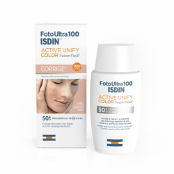 ISDIN FOTOPROTECTOR ULTRA ACTIVE UNIFY FUSION FLUID COLOR SPF 100+