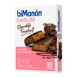 Bimanan BeSlim Chocolate Foundant 10 barritas