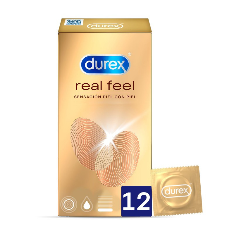 DUREX REAL FEEL 12 UNIDADES