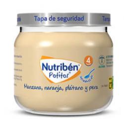 NUTRIBEN POTITOS 4 MESES FRUTAS (MANZANA, NARANJA, PLATANO Y PERA) 120 G