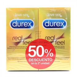 DUREX PRESERVATIVOS REAL FEEL DUPLO 2x12