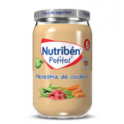 NUTRIBEN POTITOS MENESTRA CORDERO 250G