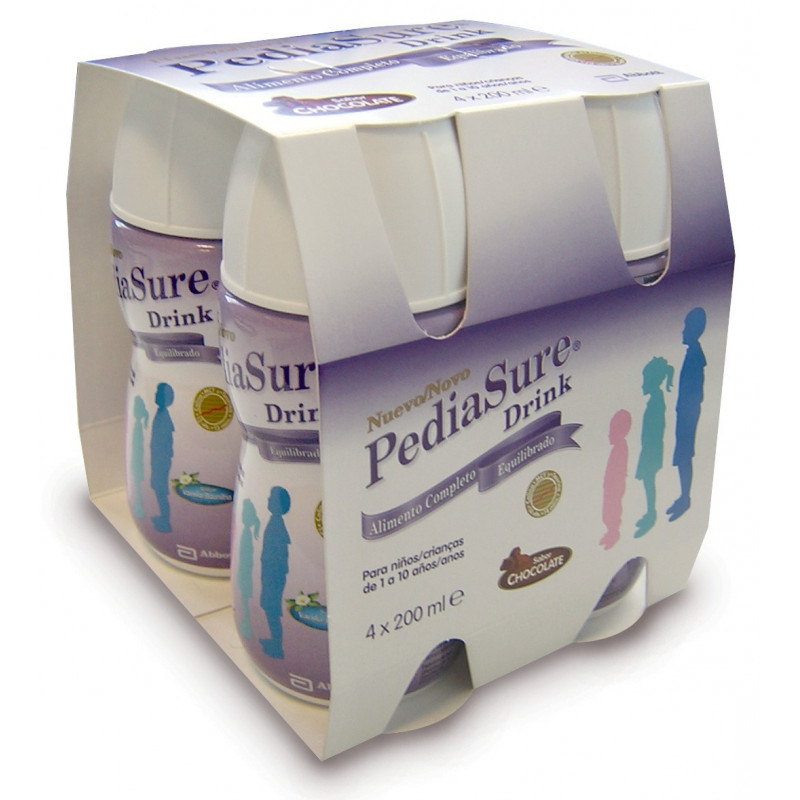 PEDIASURE DRINK CHOCOLATE 4X200ML 200 ML 4 U CHOCOLATE