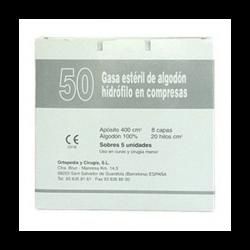 50GASA ESTERIL DE ALGON HIDRÓFILO EN COMPRESAS
